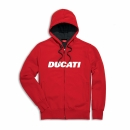 Sweatshirt Full Zip Ducatiana rot